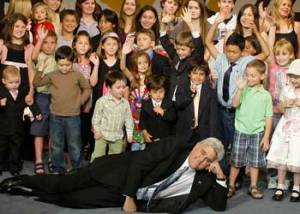 Jay Leno and the Tonight Show children